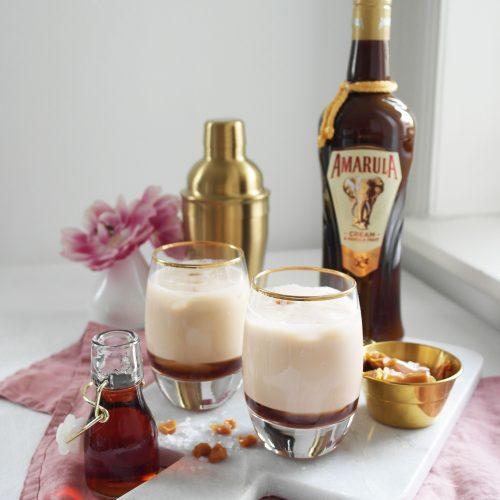 Amarula Coffee-Cocktail mit Salted Caramel