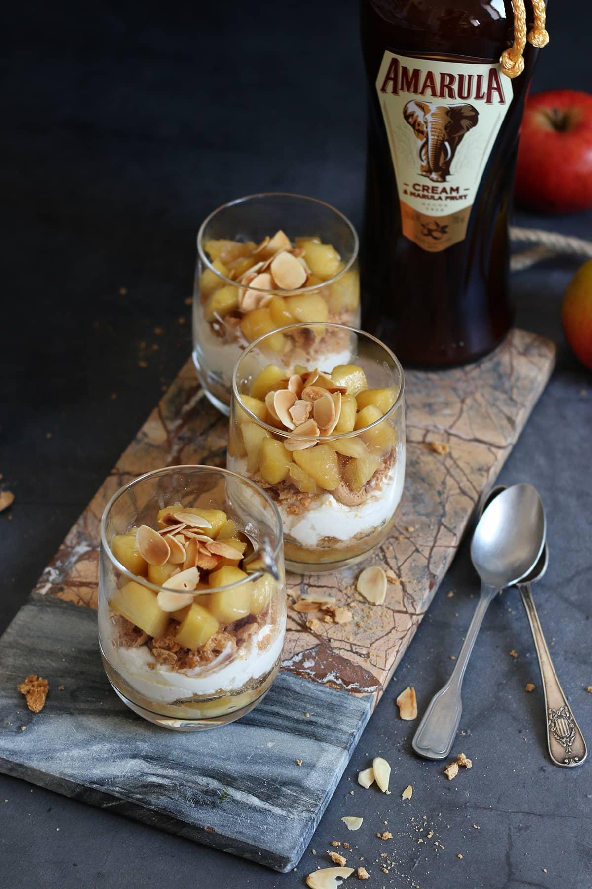 Amarula Bratapfel Schicht-Dessert